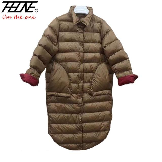 2017 ультра легкая зимняя куртка-пуховик женские зимние пальто черное пальто Теплый 90% утка вниз Мягкий Длинные зимние куртки женские Парка на пуху