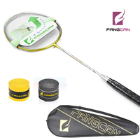 (2pcs/lot)New Listing FANGCAN VOLTE A911 100% carbon badminton racket with string gold color badminton racket