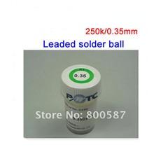 0.35mm PMTC Plomo Bolas de Soldadura 250 K Bola de la Soldadura De BGA Reball, también Tienen Otro Diámetro De la Bola de la Soldadura