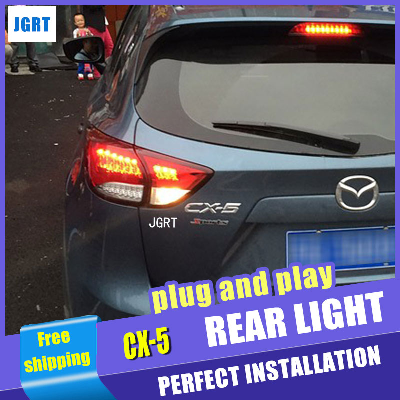 Car Styling for Mazda CX-5 Taillight assembly Taiwan Sonar Mazda CX-5 LED Tail Light Rear Lamp DRL with hid kit 2pcs. for mazda cx 5 cx5 2nd gen 2017 2018 interior custom car styling waterproof full set trunk cargo liner mats tray protector
