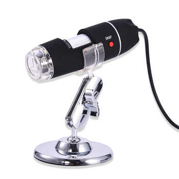 1600X 8 LEDS USB Digital Microscope Electronic Electron Endoscope Glasses Magnifier Magnifying Glasses Desk Loupe W / Stand - DISCOUNT ITEM  25% OFF All Category