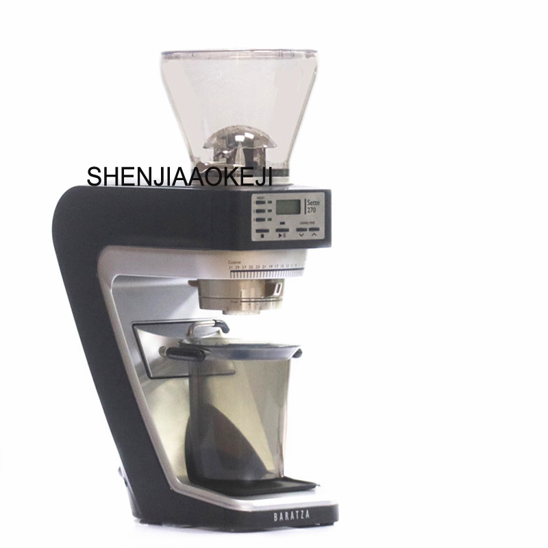 270 Electric coffee bean grinder quantitative bean grinder Household and commercial timing mill 220V 1pc polyphenols in green coffee bean and chocolate
