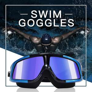 DMAR electroplat Swimming Goggles Anti-Fog Swimming Diving Eyewear professional Waterproof silicone glasses