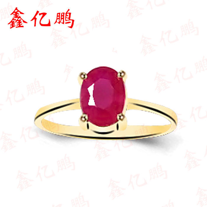 18 k gold inlaid natural ruby ring women to - Fine Jewelry