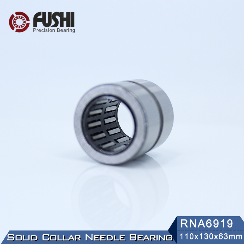 RNA6919 Bearing 110*130*63 mm ( 1 PC ) Solid Collar Needle Roller Bearings Without Inner Ring 6634919 6354919 Bearing rna4913 heavy duty needle roller bearing entity needle bearing without inner ring 4644913 size 72 90 25