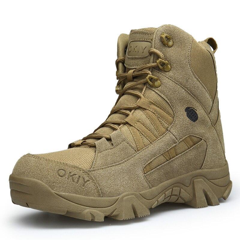 2018 Winter Mode Militär Stiefel Männer Bequeme Stiefel Männer Arbeiten Schuhe Armee Desert Combat Stiefel Männer Schnee Schuhe Hh-026