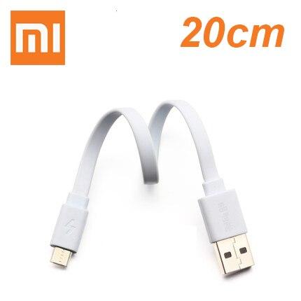 Xiaomi Powerbank-Cable Phone Micro-Usb Fast-Charging 20CM Samsung Original Huawei