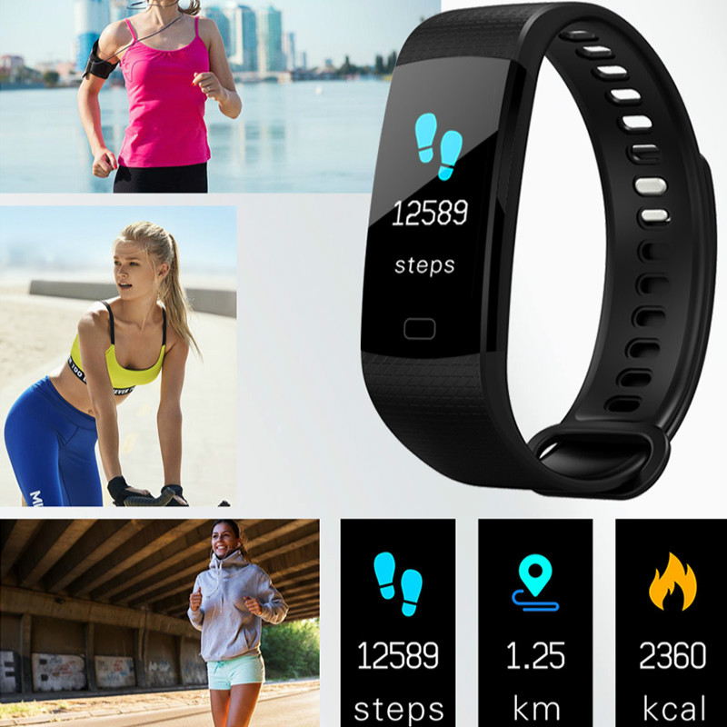 Image 4 - Bluetooth smart watch waterproof heart rate monitor blood pressure blood oxygen measurement fitness activity tracker Notificatio-in Smart Wristbands from Consumer Electronics