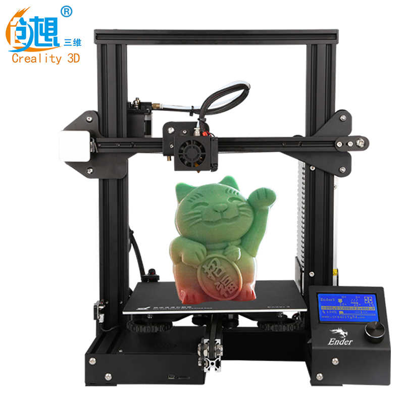 Nouveauté CREALITY 3D Imprimante Ender-3/3x/3Pro avec 3 Buses/2PLA/Silicone, v-slot Cv Panne De Courant Impression kit de bricolage Foyer