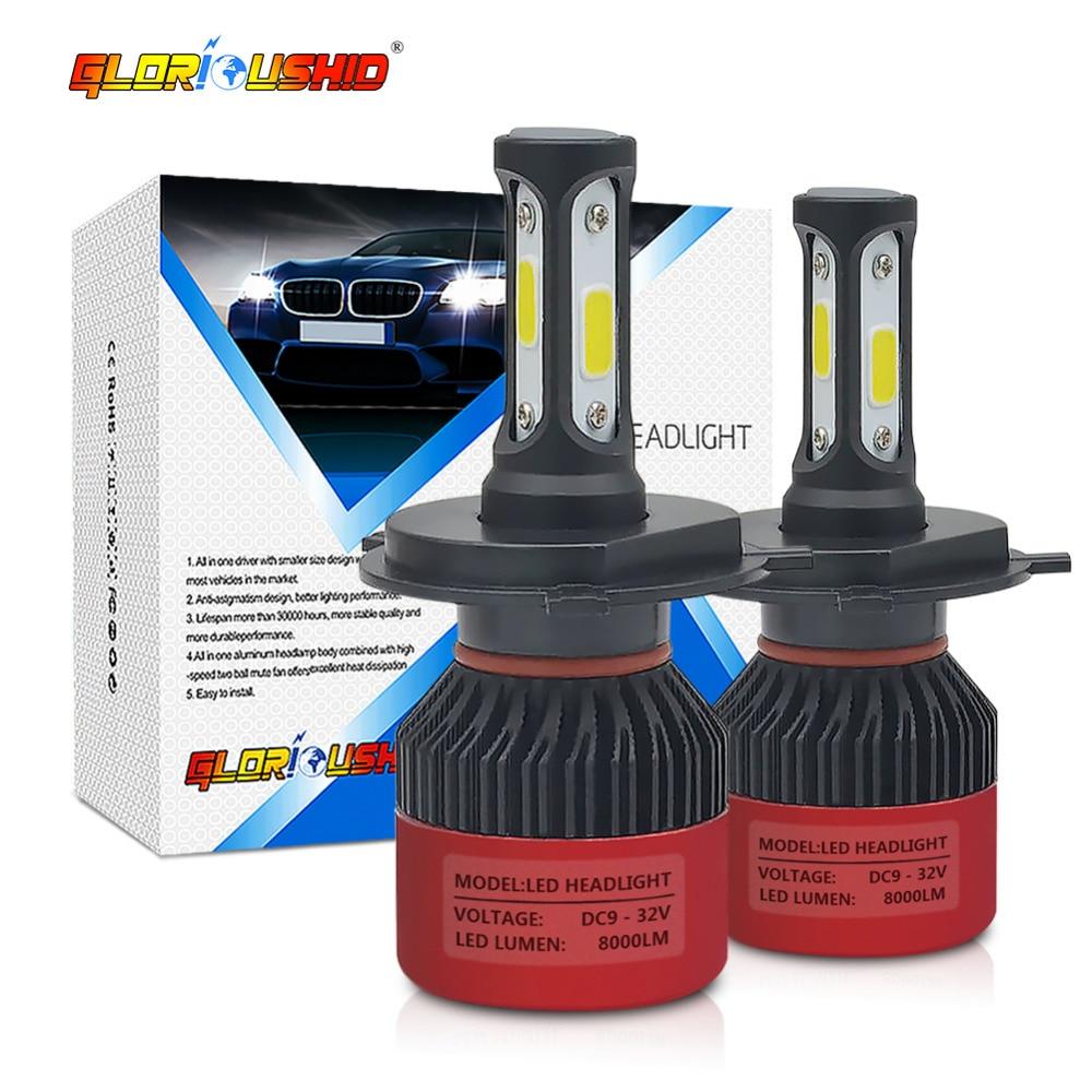 Led H7 H4 H1 H3 H11 H8 H9 9005 HB3 9006 HB4 Auto led-Licht 72 Watt 8000lm Autos Auto Scheinwerferlampe Lampe 6500 karat 12 V 24 V Scheinwerfer