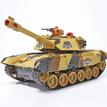 RC Tank Remote Control Toy Electric 1:20 2.4G HC0151 With Music LED 33cm Infrared Rechargeable Military Model For Boys