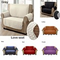 Two Seater Love-seat Sofa Protector Cover Slipcover Suede Pet Dog Couch Sofa Anti-slip Dirt-proof Sofa Pad Brand New 7 Colors