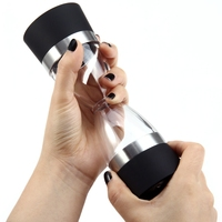 2 in 1 Hourglass Shape Manual Dual Salt Pepper Mill Spice Grinder Shaker for Kitchen Cooking Tool Dining Bar Eco friendly Mills