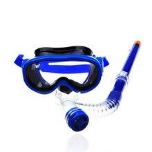 Детский мундштук силиконовая трубка для плавания с трубкой, незапотевающие маски для подводного плавания подводное плавание очки для плавания детское снаряжение для дайвинга