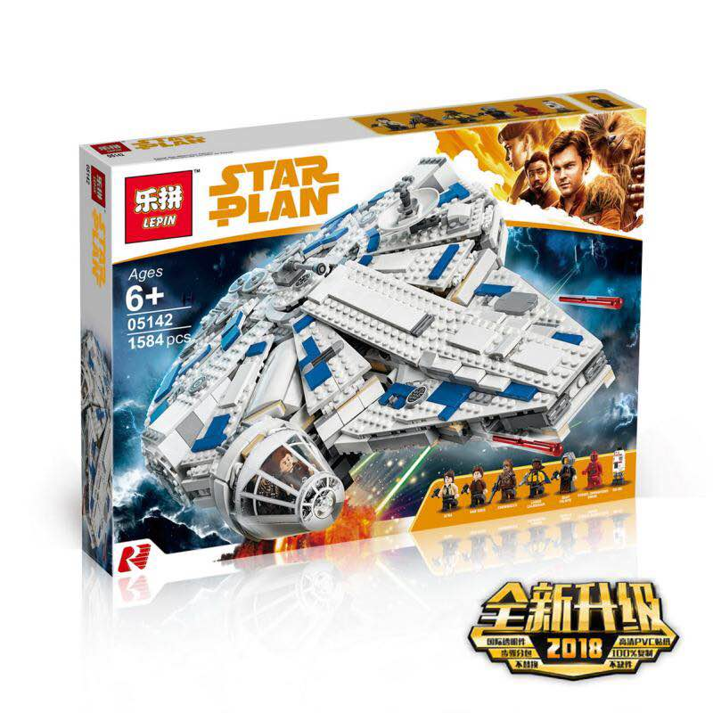 Lepin 05142 Star Series War Compatible With lego 75212 Kessel Run Millennuim Falcon Set Building Blocks Bricks Kid Toys Gifts 2015 high quality spaceship building blocks compatible with lego star war ship fighter scale model bricks toys christmas gift