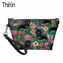 THIKIN Portable Travel Cosmetic Bag for Women Dachshund 3D Cosmetic Bags Lady Makeup Pouch Neceser Toiletry Organizer Case Pouch цены