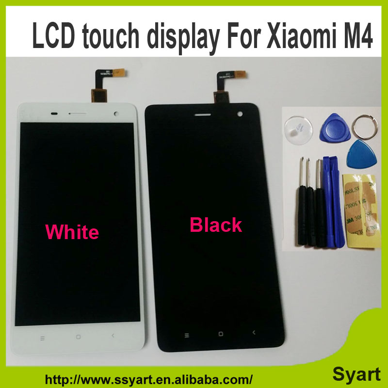 1PCS White New Arrivel mi 4 m4 mi4 LCD Display Touch Screen lcd Replacement cell phone