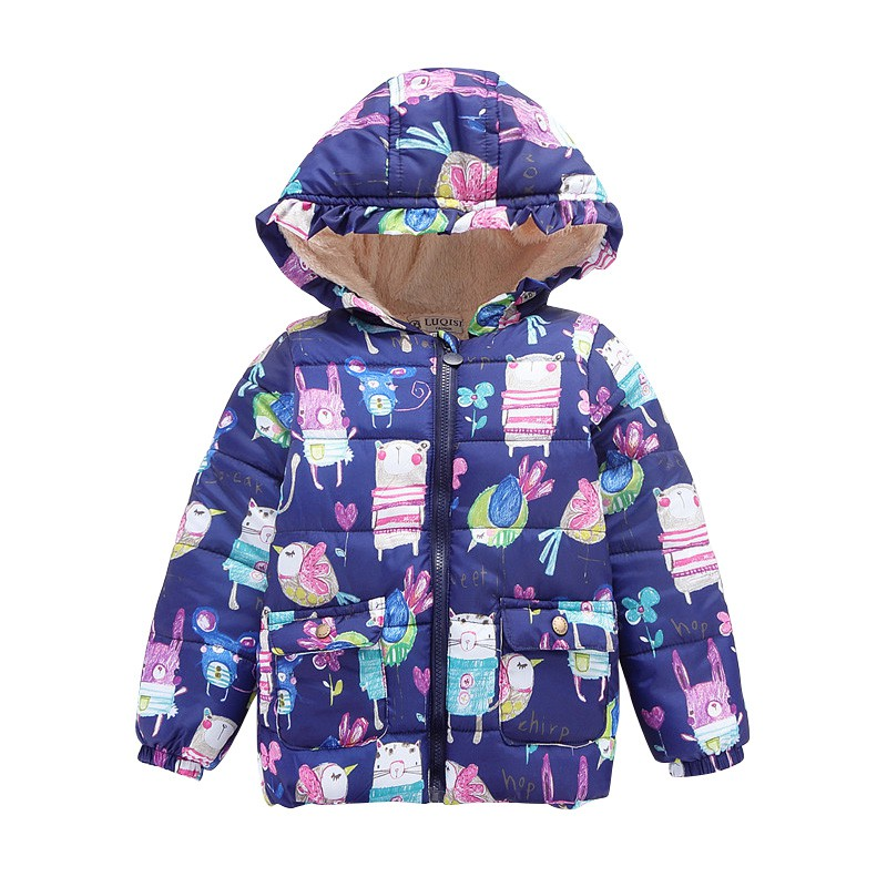The New Doodle Boys  And Girl Babys Child Small Cotton Padded Jacket With Cashmere Coat Thickness Baby Jacket 2-7Y