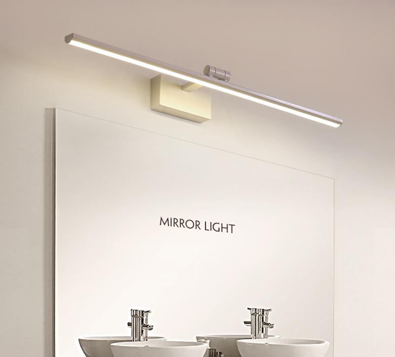 Регулируемый угол коричневый/белый для ванной светодио дный зеркало с подсветкой 0,4 м-1,2 м бра спальня светодио дный Настенные светильники а...