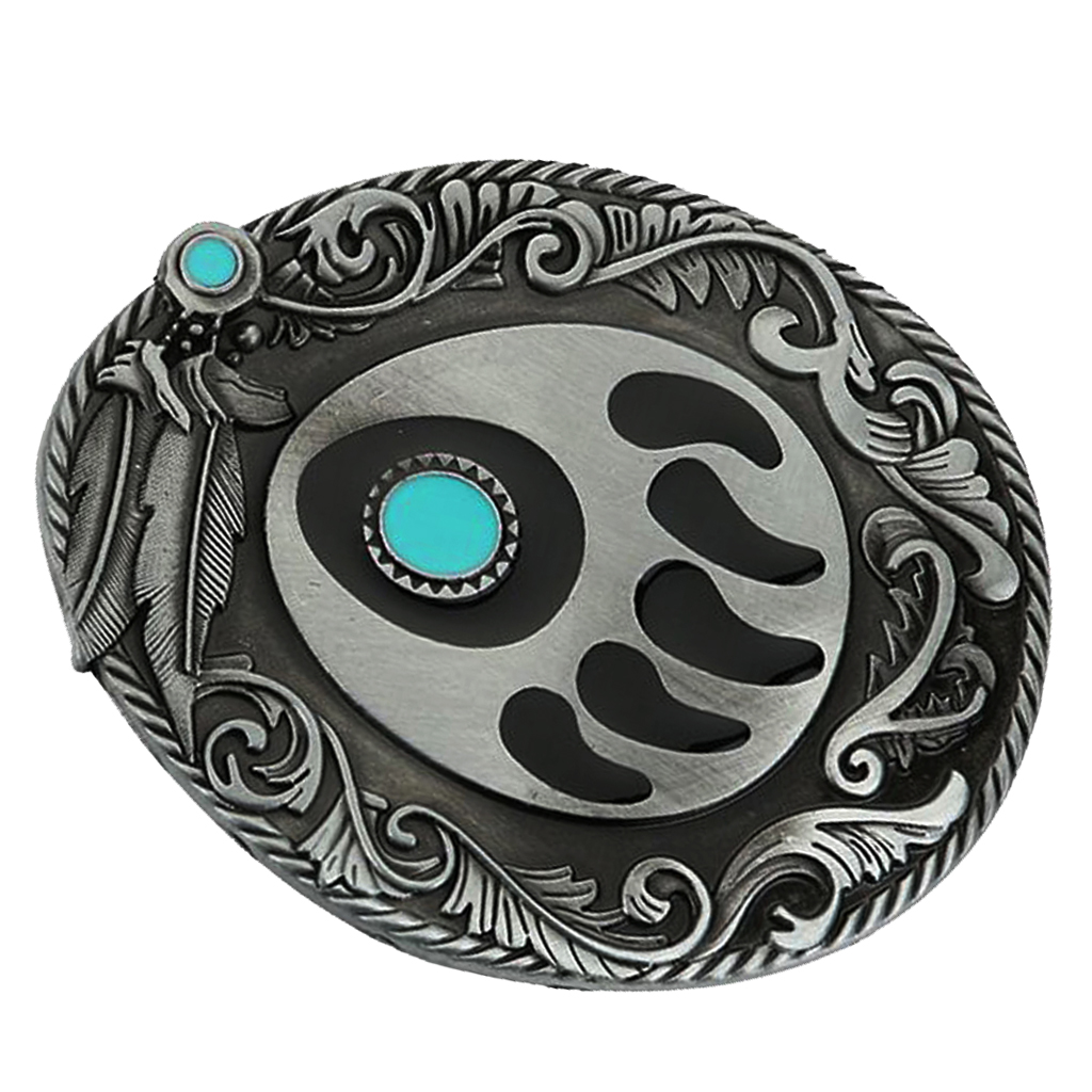 2019 Vintage Belt Buckle Handmade Paw Pattern Belt Buckle Western Buckles Fit Leather Belt Bohemian India Style