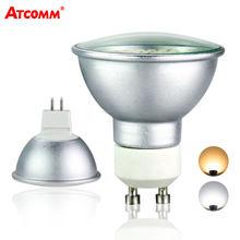 GU10 MR16 Bombilla de foco LED 10-30V 110V 220V de alta Lumen 2835 Chip SMD 36 54 72 LEDs GU10 ampolla LED de aluminio de luz sin parpadeo