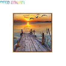 Aliexpress Value Set Wholesale 5pcs Diy Full Resin Round Diamond Painting Cross Stitch Embroidery Sunset Scenery A Hobby Mosaic