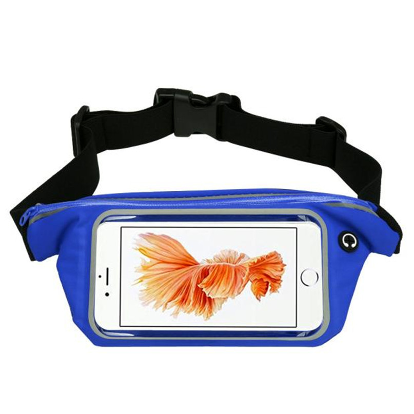 Outdoor Sports Running Waist Bag Utility Gym Fanny Pack Fitness Jogging Belt Bags 5.5 inch Cell Phone Pocket for Men Women #2a (18)