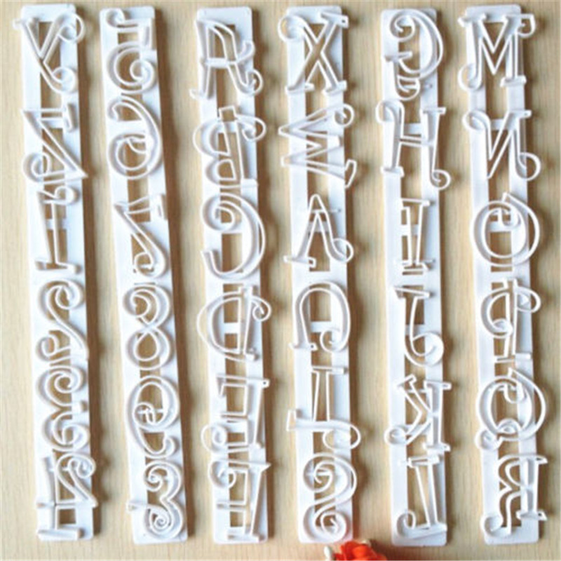 cute alphabet number letter cutter cake cookie pastry embossed stamp tool mold diychina