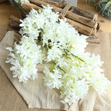 Layout engineering cross cherry blossom artificial flower home decoration wedding hand bouquet wall fake flowers