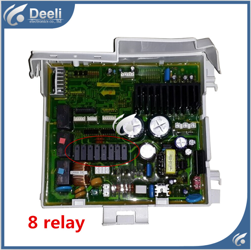 95% new used good working 8 relay for washing machine Computer board WD-B1055 WD-J1255S WD-B1265D motherboard