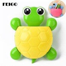 FEIGO 1 Pcs New Animal Turtle Kawaii Sucker Toothbrush Holder Suction Family Set Wall Bathroom Eco-Friendly Storage F660