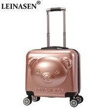 75251aaae Maleta nueva ABS + PC equipaje de la serie 18 pulgadas maleta trolley bolsa  de viaje niño bolsa de equipaje rodante con rueda