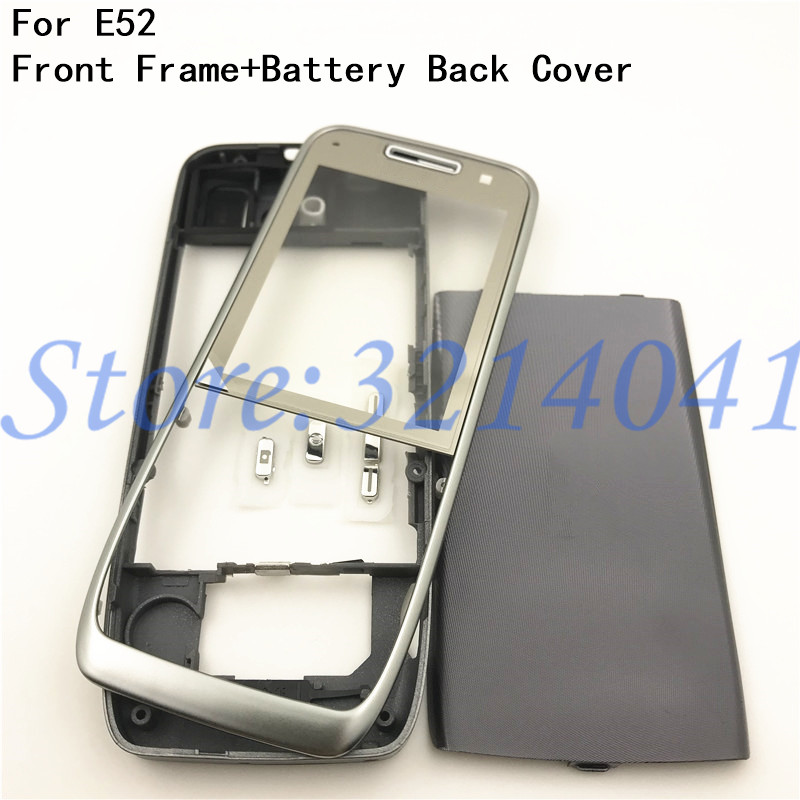 Good quality Original For Nokia E52 Housing Front Frame Battery Back Cover + Logo(Without Keypad)|Mobile Phone Housings & Frames| |  - title=