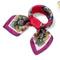 Бандана Шейный Платок Дамы Офис Подарок Небольшой Площади Шелковый Шарф Женщин шелковый шарф 60 см