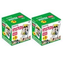 50/caja 100% genuino fujifilm instax mini solo paquete de 100 hojas de película instantánea para fuji cámaras instantáneas envío gratis