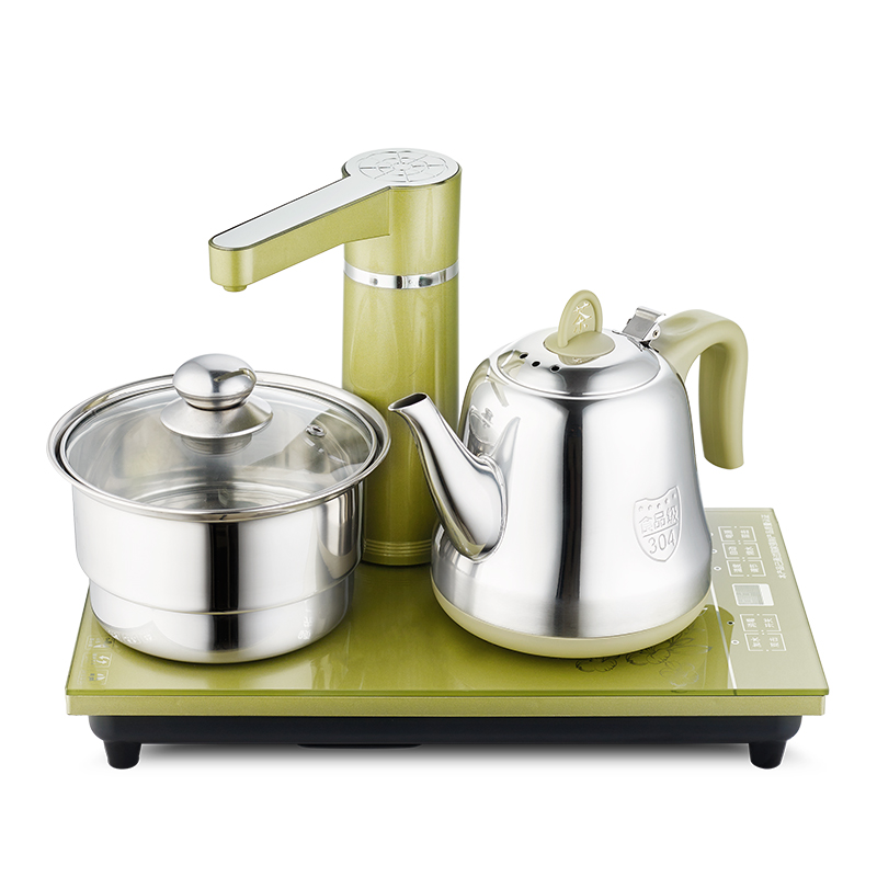 Electric kettle Automatic upper electric set 304 stainless steel boiling tea ware Anti-dry Protection automatic upper water electric kettle pump 304 stainless steel tea set