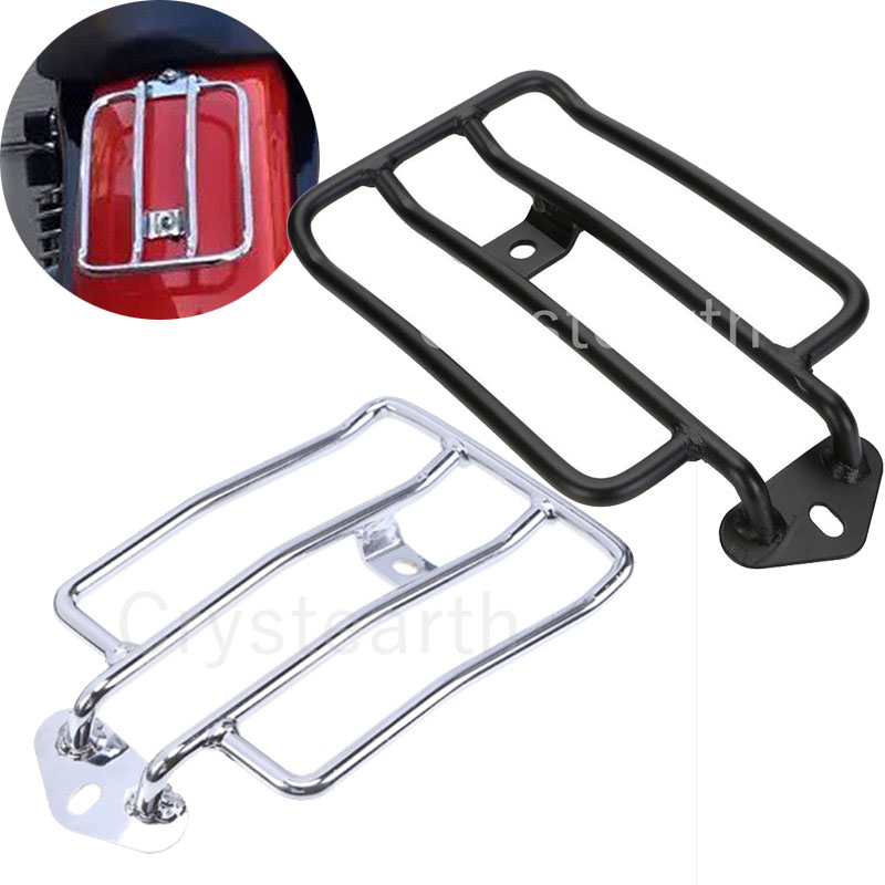 Chrome Motorcycle Bike Luggage Rack Support Shelf Frame For Harley Sportster XL883 XL1200 XL 883 1200 Solo Seat motorbike black solo seat luggage shelf frame rack for harley sportster xl 883 1200 85 03