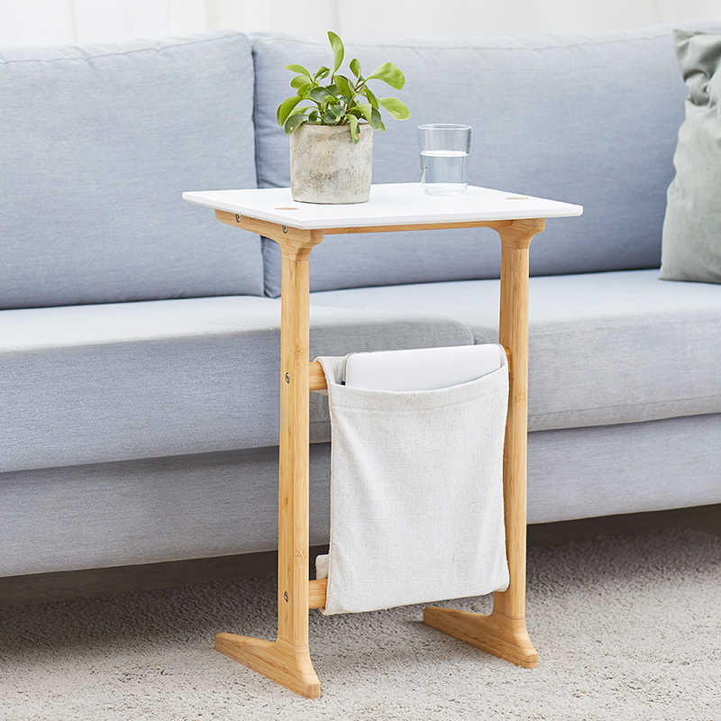 Free shipping BAMBOO Sofa End Table White Coffee Table  for Living Room Night Table for Bedroom  Accent Furniture