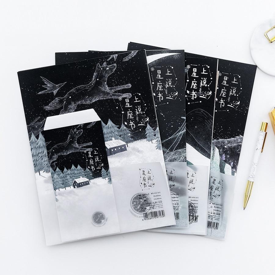 9 Teile/satz 3 Umschläge + 6 Writting Papier Retro Kreative Konstellation Serie Umschlag Für Geschenk Koreanische Schreibwaren