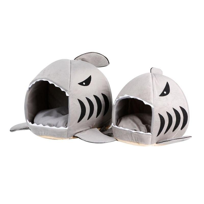 Us 1043 28 Offśliczne 1 Pc Gąbka łóżka Dla Psa Rekina Usta Dla Zwierząt Domowych Dom Dla Kotów Wymienny Zmywalny Cartoon Pies łóżko Hodowla