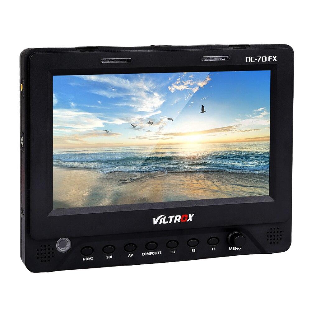 7'' Viltrox DC-70EX HDMI/SDI/AV Video LCD HD Monitor for Canon Nikon SLR Camera