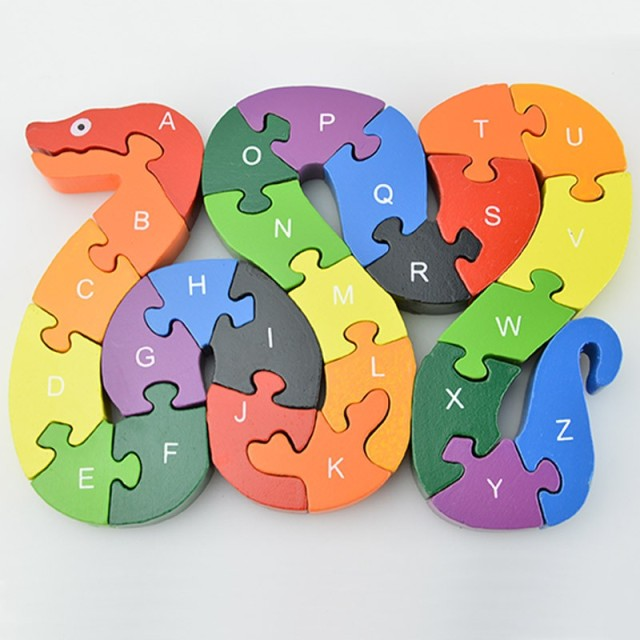 Educational Toys Brain Game Kids Winding Snake Wood Toys