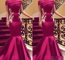 Arabic Evening dress 2019 abiye Off the Shoulder Pleats Appliques Sequins Mermaid Dresses Long Dubai robe de soiree