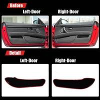 2pcs Fabric Door Protection Mats Anti kick Decorative Pads For BMW M3 2009 2013
