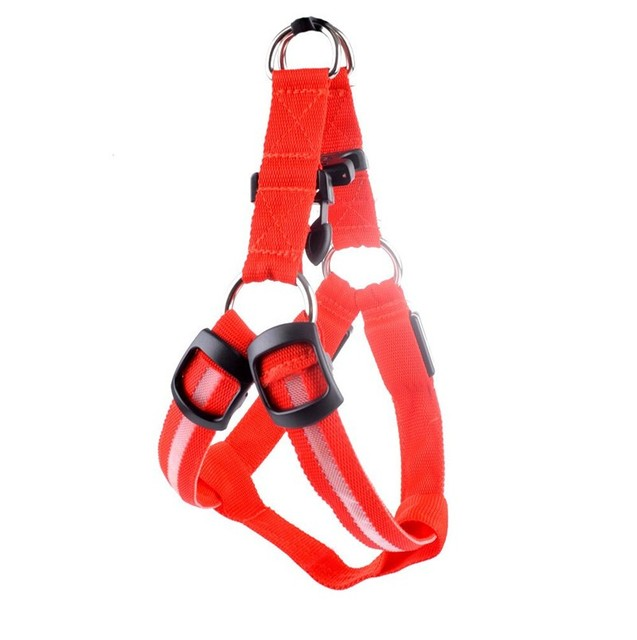 USB rechargeable pet dog harness