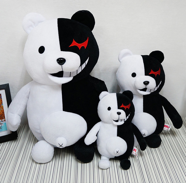 70 cm High giant Doll Mono Kuma Danganronpa Monokuma mono bear plush Black White Bear Stuffed Plush Toy big birthday Animal toy 1