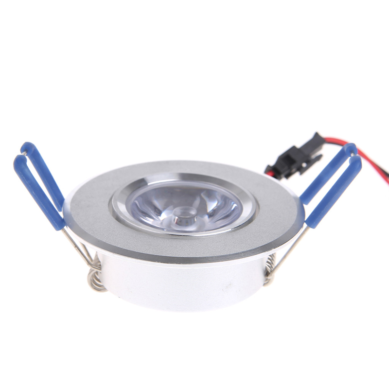 1W LED Lights 85-265V Cabinet Mini Downlight Spot Ceiling Lamp Pure White 5500-7000K Warm White 2700-3200K
