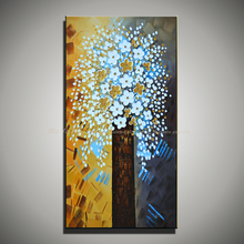 Decorative pictures abstractas acrylic modern abstract tree knife painting flower handmade oil painting on canvas living room