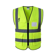 Светоотражающий жилет для строительства, защитная одежда для безопасности, Предупреждение о дорожном движении, зеленый флуоресцентный жилет для автомобиля