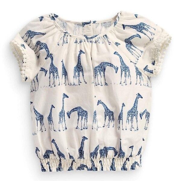 Jumping beans girl cotton T-shirt baby summer beach wear half sleeve full India deer temperament